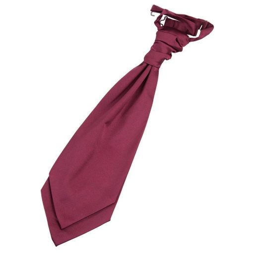 Burgundy Plain Satin Pre-Tied Wedding Cravat