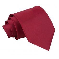 Burgundy Plain Satin Classic Tie