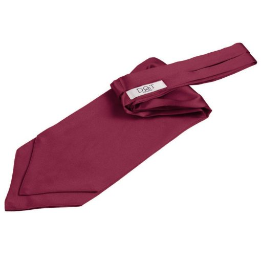 Burgundy Plain Satin Self-Tie Wedding Cravat