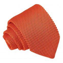 Burnt Orange Knitted Slim Tie