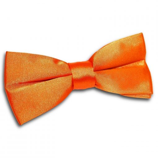 Burnt Orange Plain Satin Pre-Tied Bow Tie