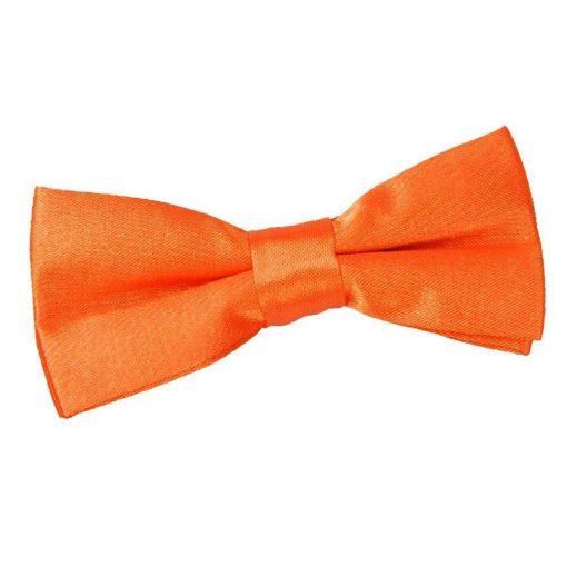Burnt Orange Plain Satin Pre-Tied Bow Tie for Boys