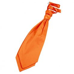 Burnt Orange Plain Satin Pre-Tied Wedding Cravat