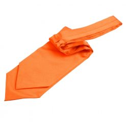 Burnt Orange Plain Satin Self-Tie Wedding Cravat