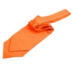 Burnt Orange Plain Satin Self-Tie Wedding Cravat
