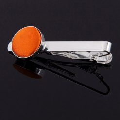 Burnt Orange Plain Tie Clip