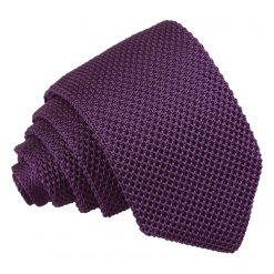 Cadbury Purple Knitted Slim Tie