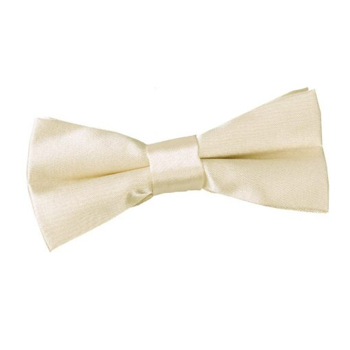 Champagne Plain Satin Pre-Tied Bow Tie for Boys