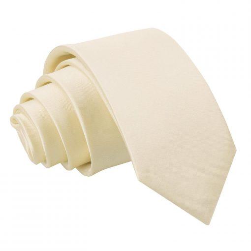Champagne Plain Satin Regular Tie for Boys