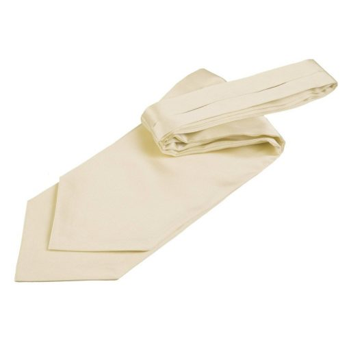 Champagne Plain Satin Self-Tie Wedding Cravat