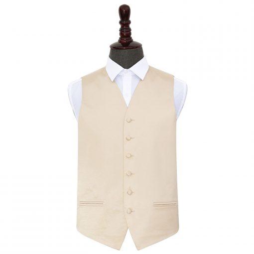Champagne Plain Satin Wedding Waistcoat