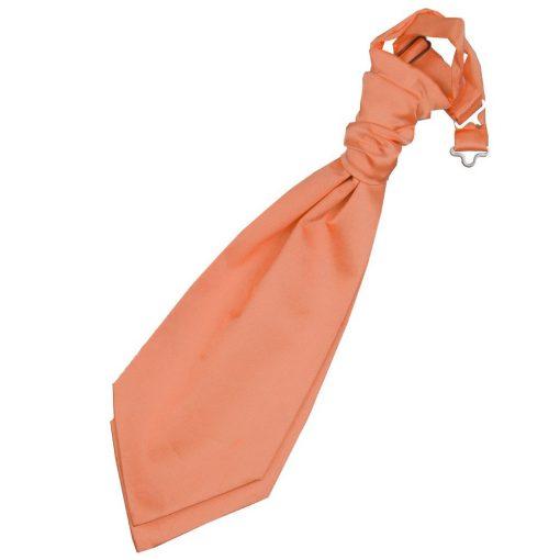 Coral Plain Satin Pre-Tied Wedding Cravat for Boys