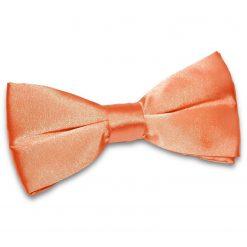 Coral Plain Satin Pre-Tied Bow Tie