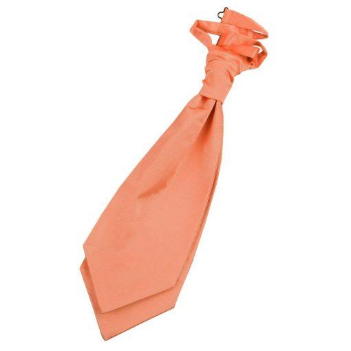 Coral Plain Satin Pre-Tied Wedding Cravat