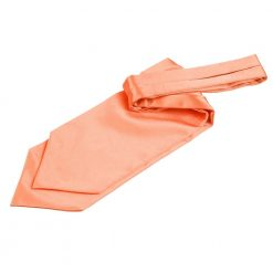Coral Plain Satin Self-Tie Wedding Cravat