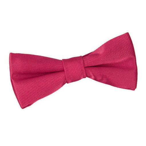 Crimson Red Plain Satin Pre-Tied Bow Tie for Boys