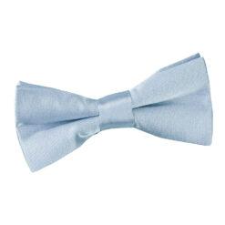 Dusty Blue Plain Satin Pre-Tied Bow Tie for Boys