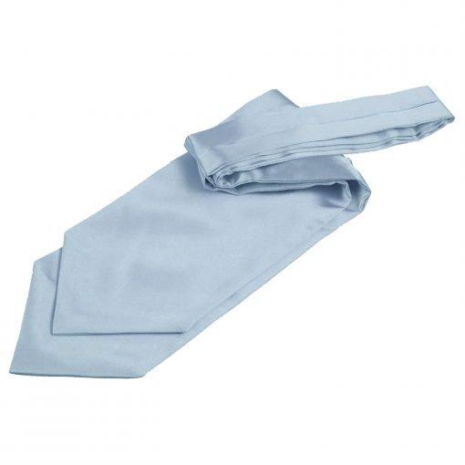 Dusty Blue Plain Satin Self-Tie Wedding Cravat