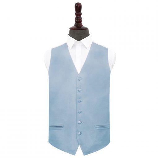 Dusty Blue Plain Satin Wedding Waistcoat