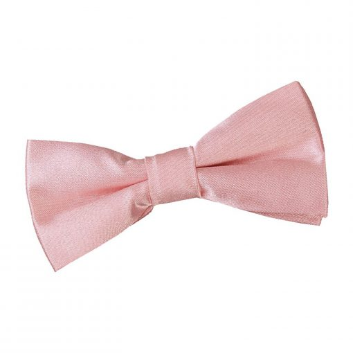 Dusty Pink Plain Satin Pre-Tied Bow Tie for Boys