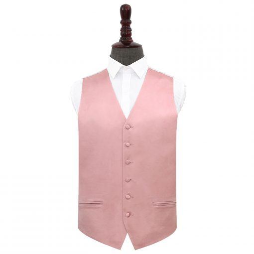 Dusty Pink Plain Satin Wedding Waistcoat