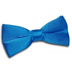 Electric Blue Plain Satin Pre-Tied Bow Tie