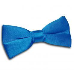 Electric Blue Plain Satin Pre-Tied Bow Tie