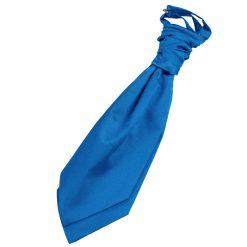 Electric Blue Plain Satin Pre-Tied Wedding Cravat