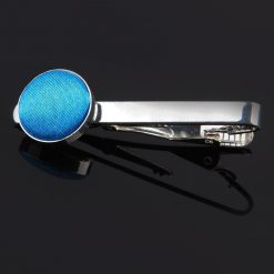 Electric Blue Plain Tie Clip