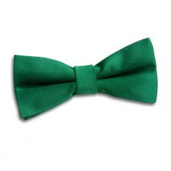 Emerald Green Plain Satin Pre-Tied Bow Tie for Boys