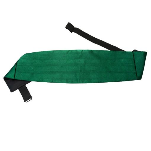 Emerald Green Plain Satin Cummerbund
