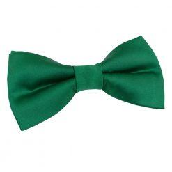 Emerald Green Plain Satin Pre-Tied Bow Tie