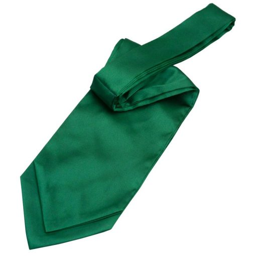 Emerald Green Plain Satin Self-Tie Wedding Cravat