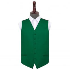 Emerald Green Plain Satin Wedding Waistcoat