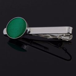 Emerald Green Plain Tie Clip