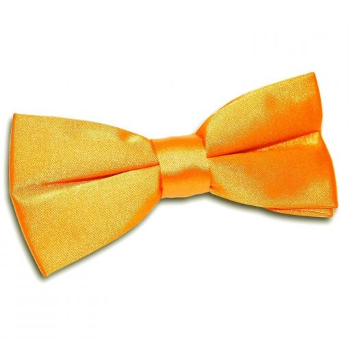 Fluorescent Orange Plain Satin Pre-Tied Bow Tie