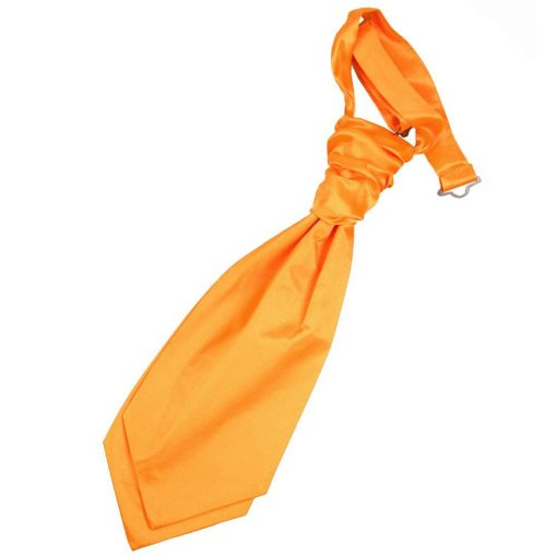 Fluorescent Orange Plain Satin Pre-Tied Wedding Cravat for Boys