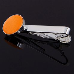 Fluorescent Orange Plain Tie Clip