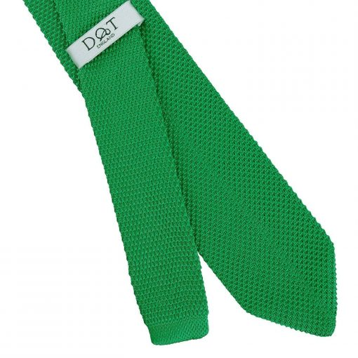 Forest Green Knitted Slim Tie