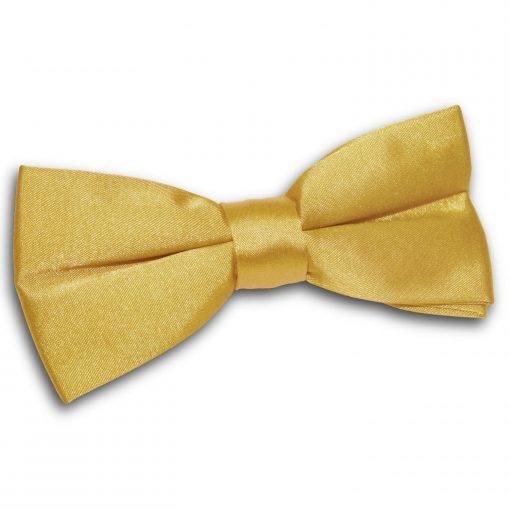 Gold Plain Satin Pre-Tied Bow Tie