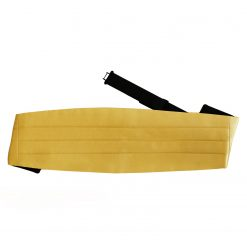 Gold Plain Satin Cummerbund