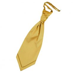 Gold Plain Satin Pre-Tied Wedding Cravat