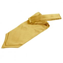 Gold Plain Satin Self-Tie Wedding Cravat