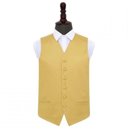 Gold Plain Satin Wedding Waistcoat