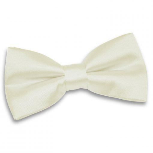 Ivory Plain Satin Pre-Tied Bow Tie
