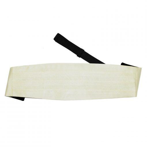 Ivory Plain Satin Wedding Waistcoat & Bow Tie Set