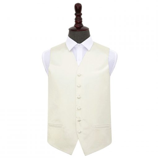Ivory Plain Satin Wedding Waistcoat