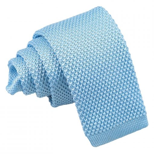 Baby Blue Knitted Tie for Boys