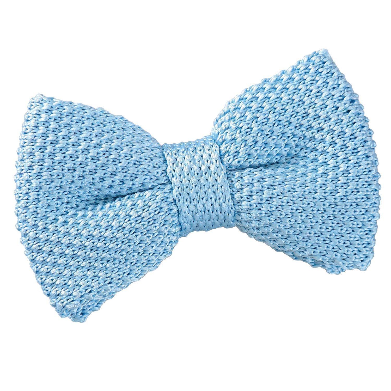 Amytong 100/% silk satin blue bow tie wedding groomsmen business blue butterfly bow tie