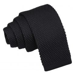 Black Knitted Tie for Boys